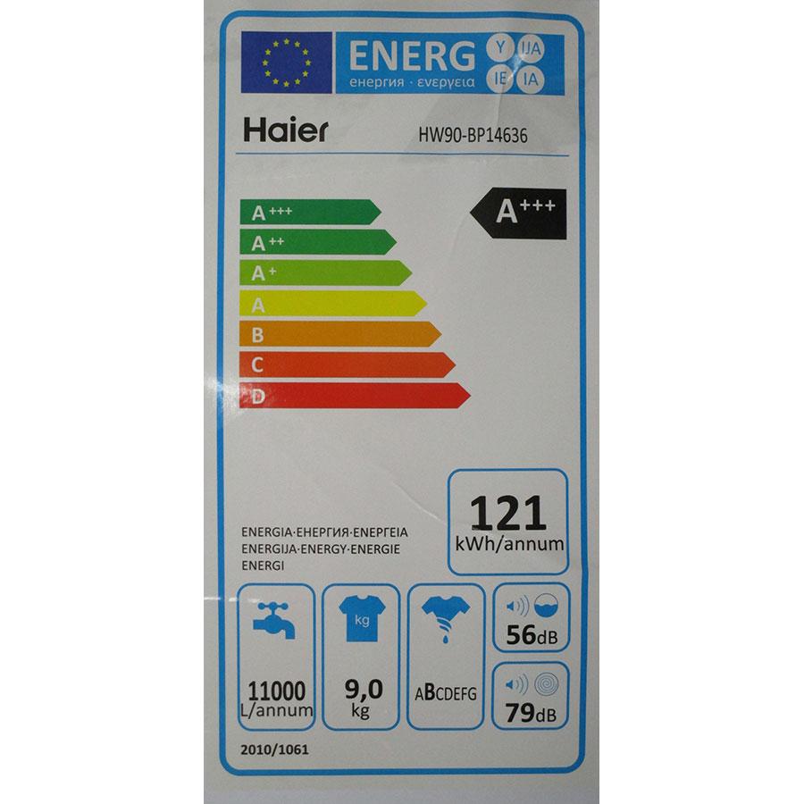 Haier HW90-BP14636 - Étiquette énergie