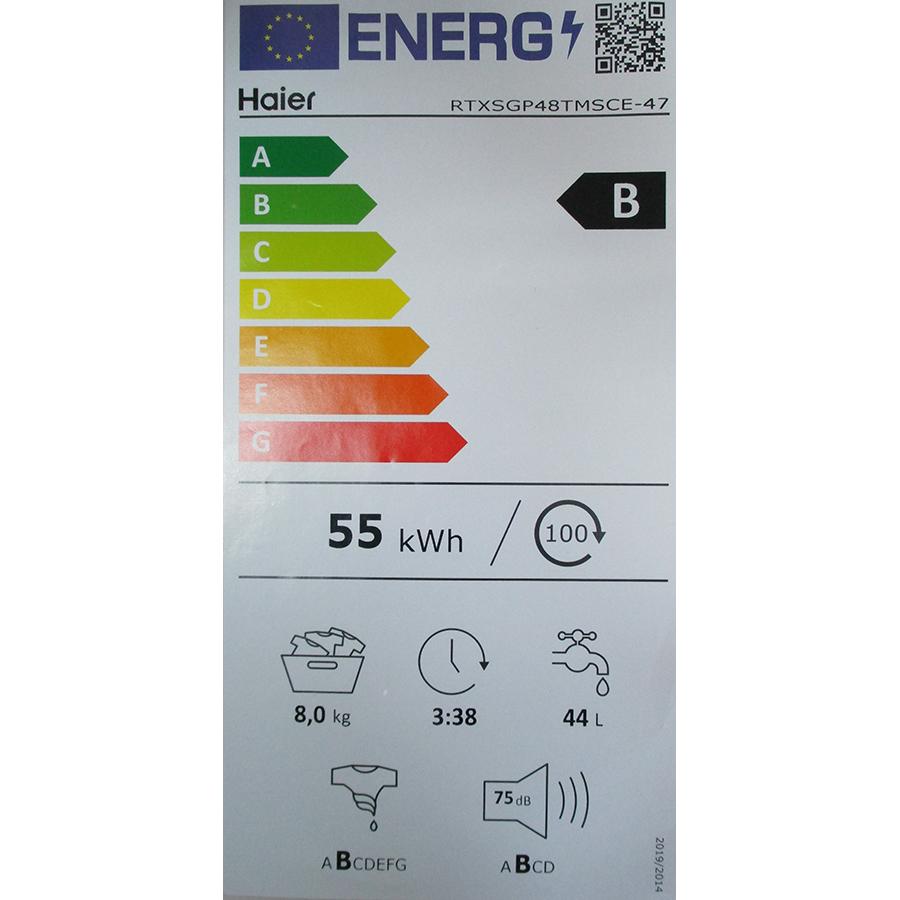 Haier RTXSGP48TMSCE - Nouvelle étiquette énergie