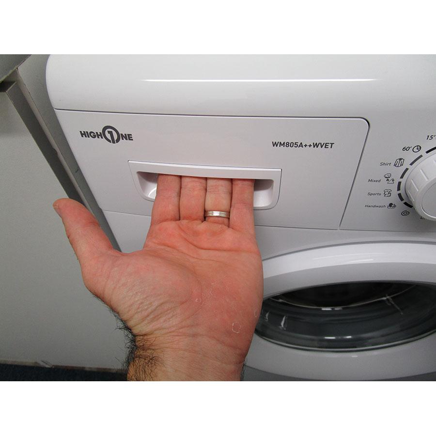 High One (Electro Dépôt) WM805A++WVET - Ouverture du tiroir à détergents