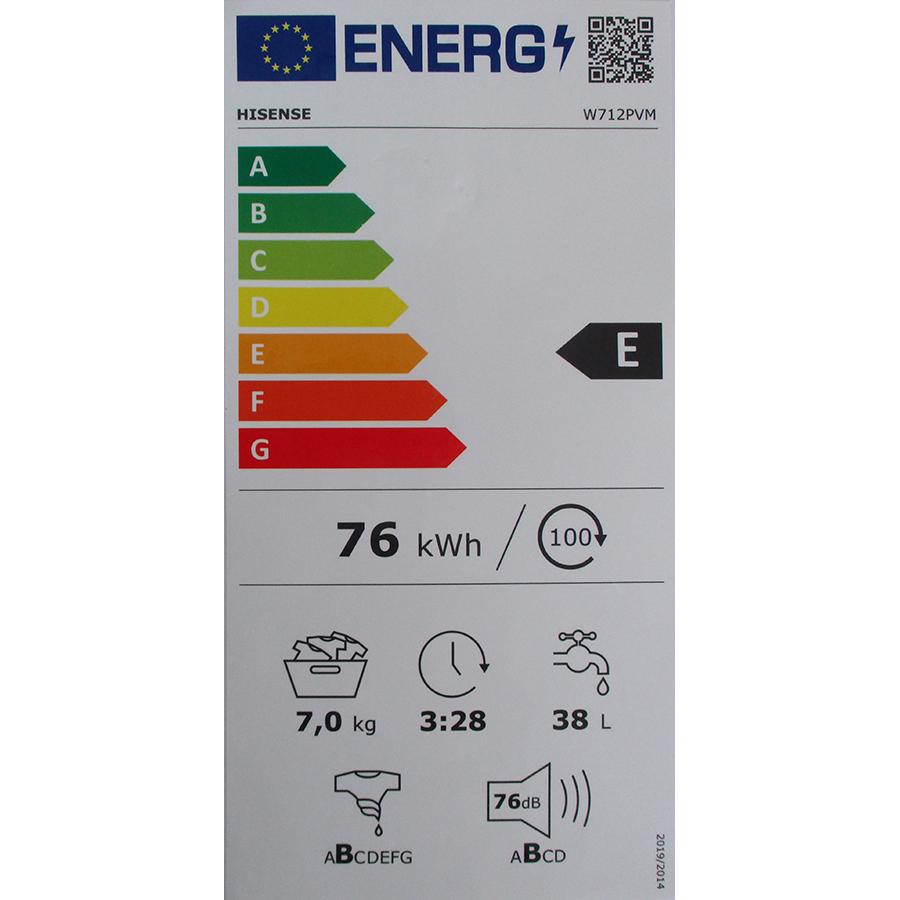 Hisense W712PVM - Nouvelle étiquette énergie