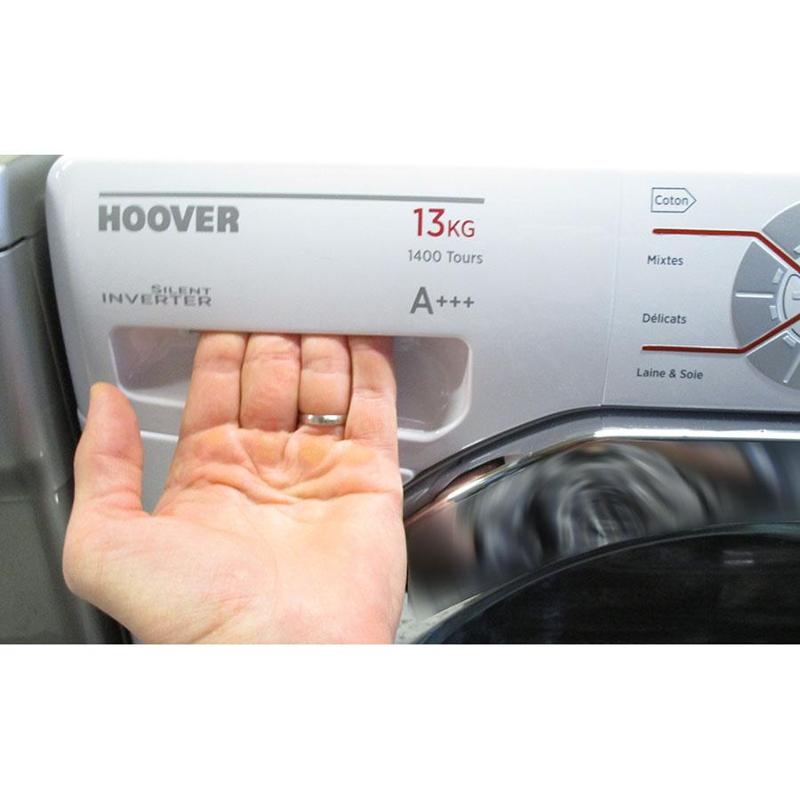Hoover DMT413AH/1 - Ouverture du tiroir à détergents