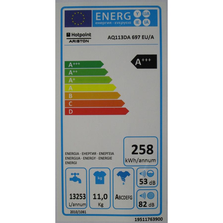 Hotpoint-Ariston AQ113DA697 EU/A Aqualtis - Étiquette énergie
