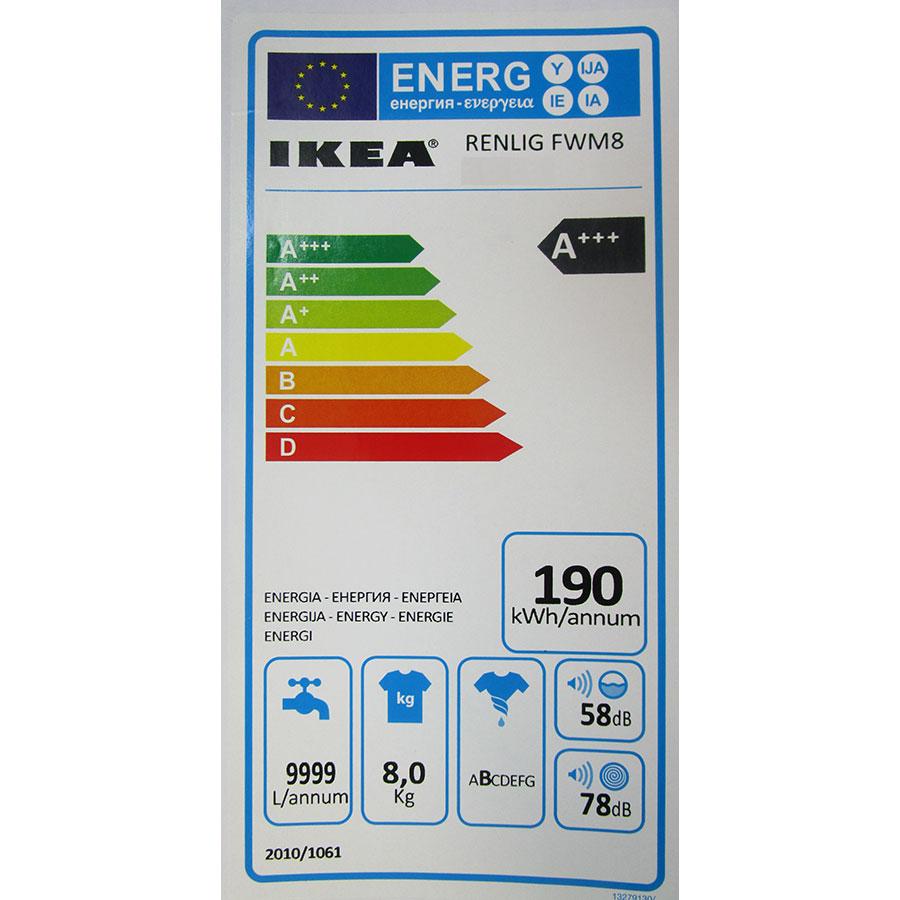 Ikea Renlig FWM8 703.096.42 - Étiquette énergie