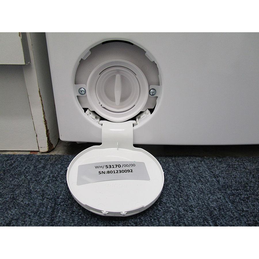 Indesit BTWD61253 - Bouchon du filtre de vidange