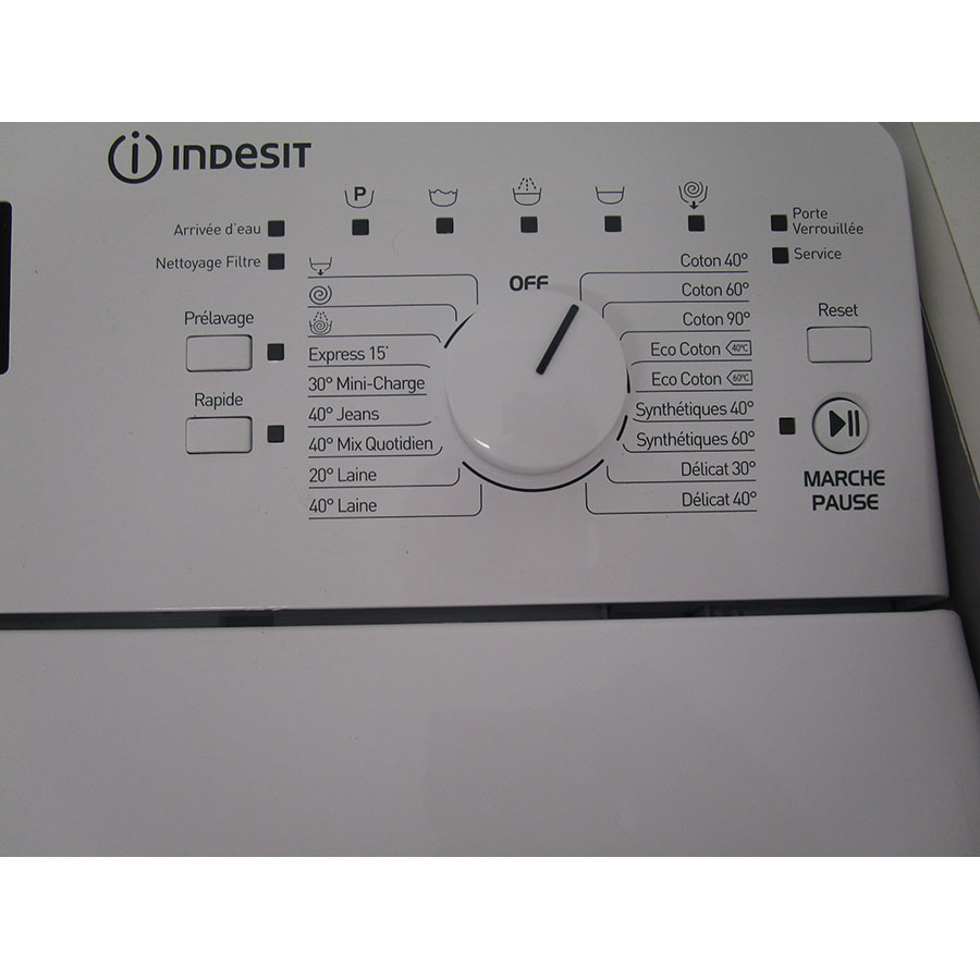Indesit ITWD 61253 W FR(*42*) - Sélecteur de programme et température