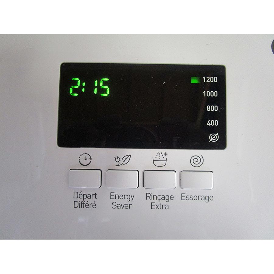 Indesit ITWD C 61252 W - Afficheur et touches d'options