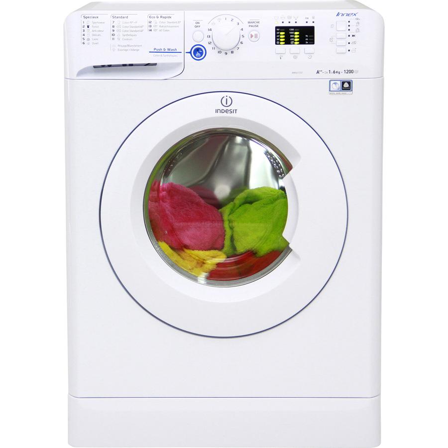 Indesit XWA61252W FR Innex Push & Wash (*23*) - Vue de face