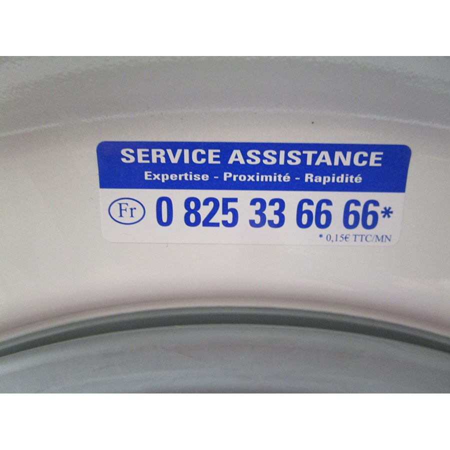 Indesit XWA71452WFR - Autocollant service consommateurs