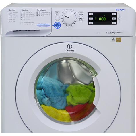 test indesit xwe71451w fr innex push wash lave linge. Black Bedroom Furniture Sets. Home Design Ideas