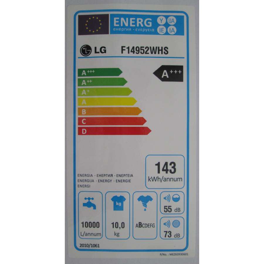 LG F14952WHS - Étiquette énergie