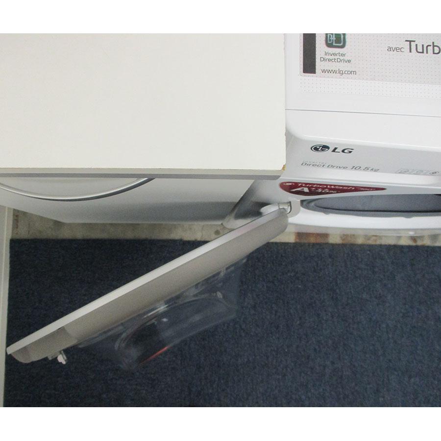 LG F14V71WHST - Angle d'ouverture de la porte