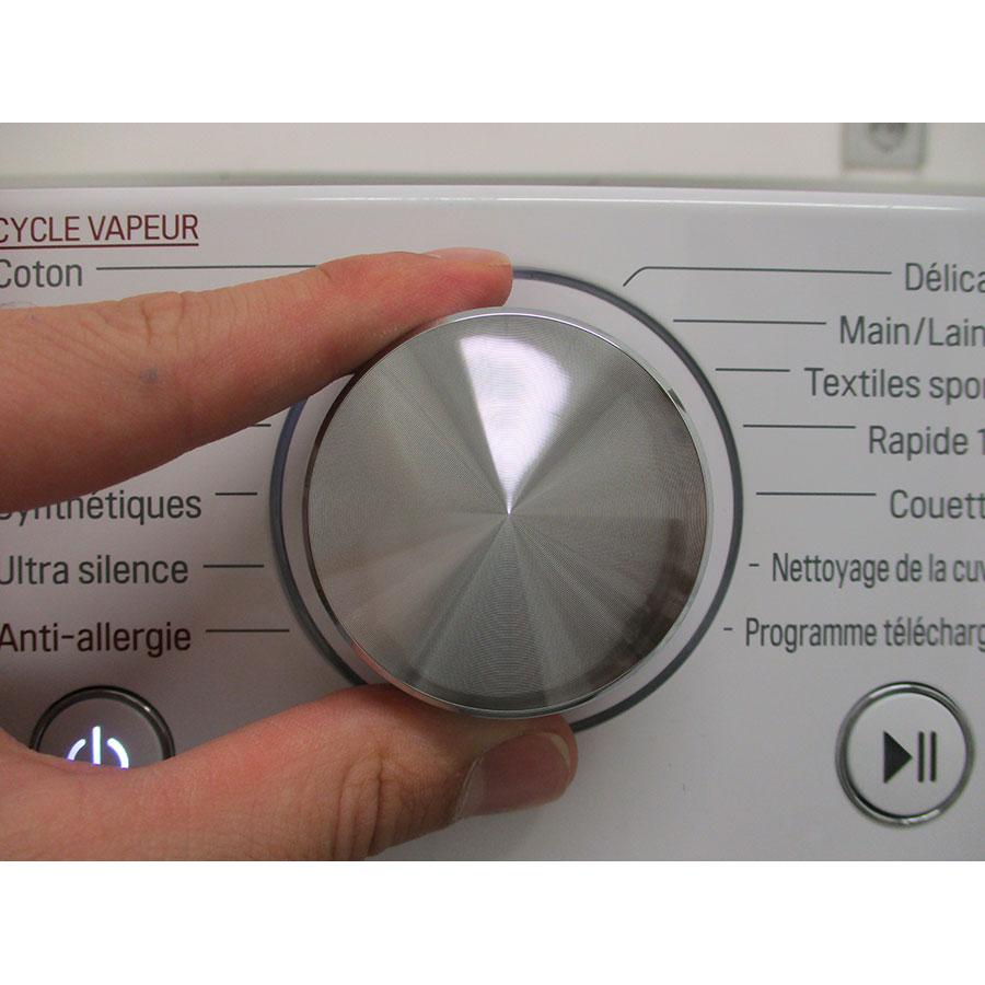 LG F14V71WHST - Visibilité du sélecteur de programme