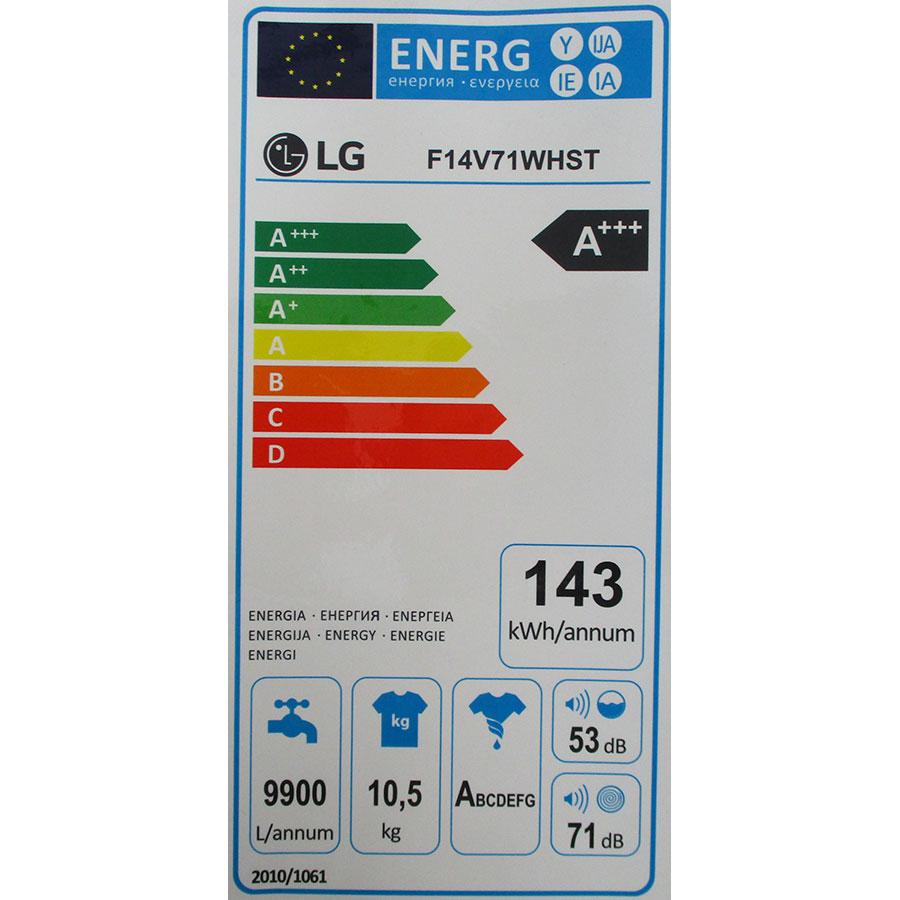 LG F14V71WHST - Étiquette énergie