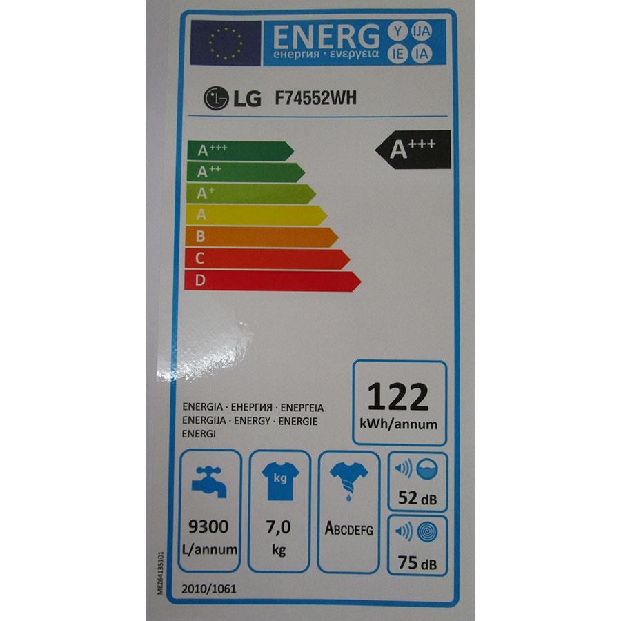 LG F74552WH - Étiquette énergie