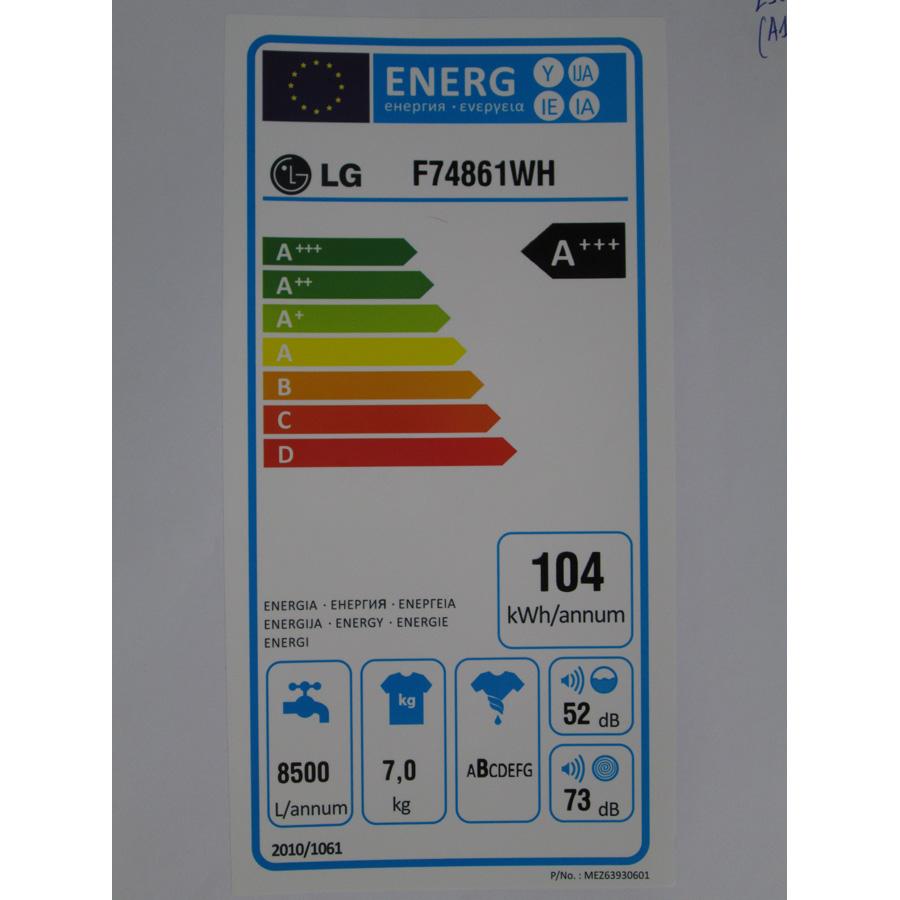 LG F74861WH - Étiquette énergie