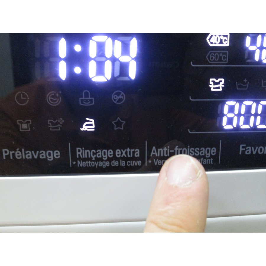 LG F74902WH - Touches d'option