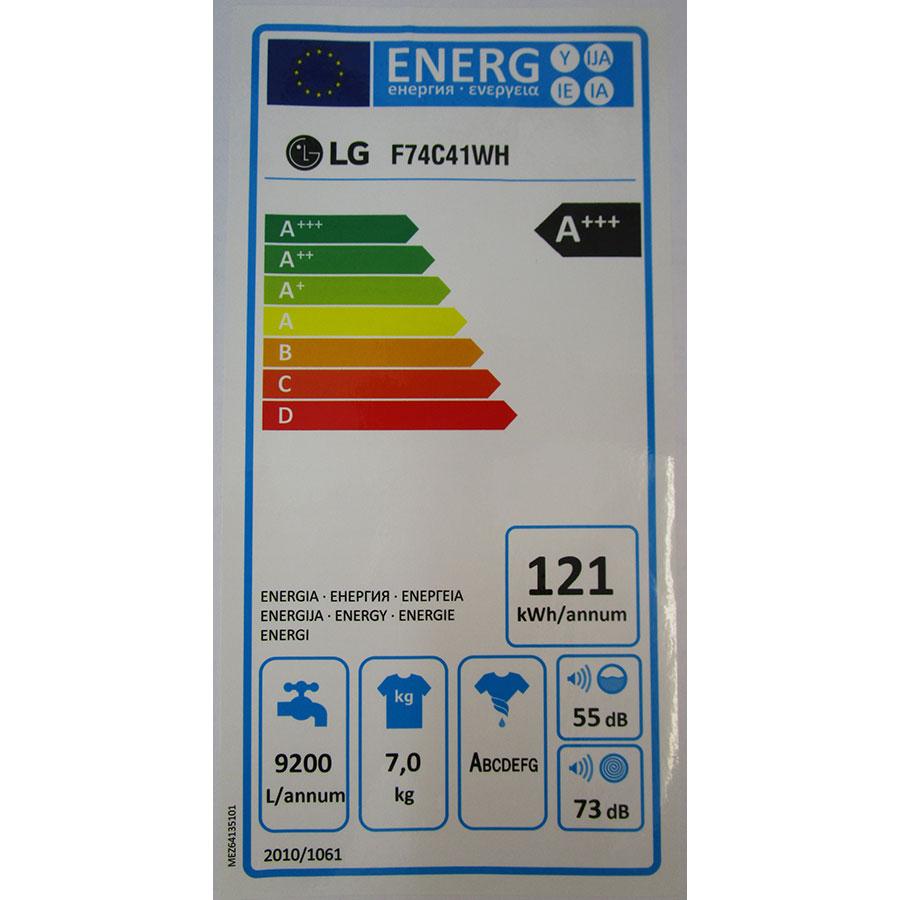 LG F74C41WH(*10*) - Étiquette énergie