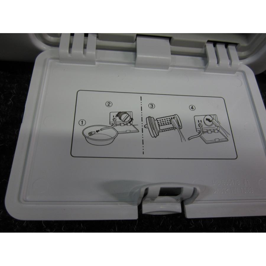 LG F84902WH - Autocollant des préconisations d'entretien