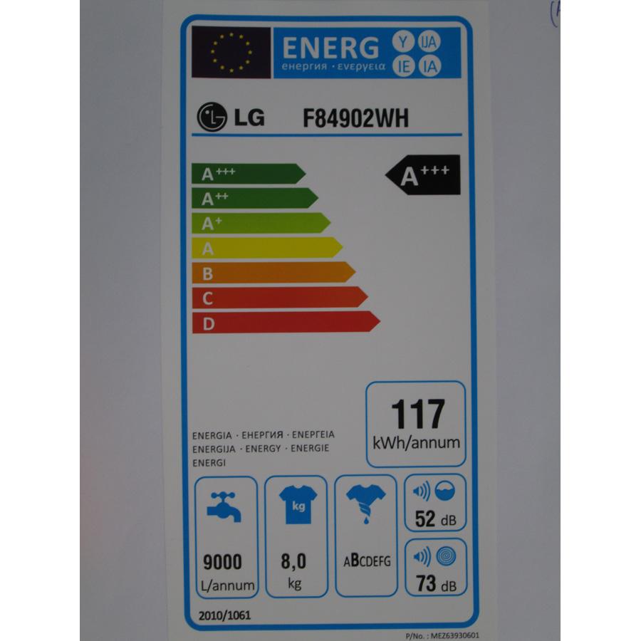 LG F84902WH - Étiquette énergie
