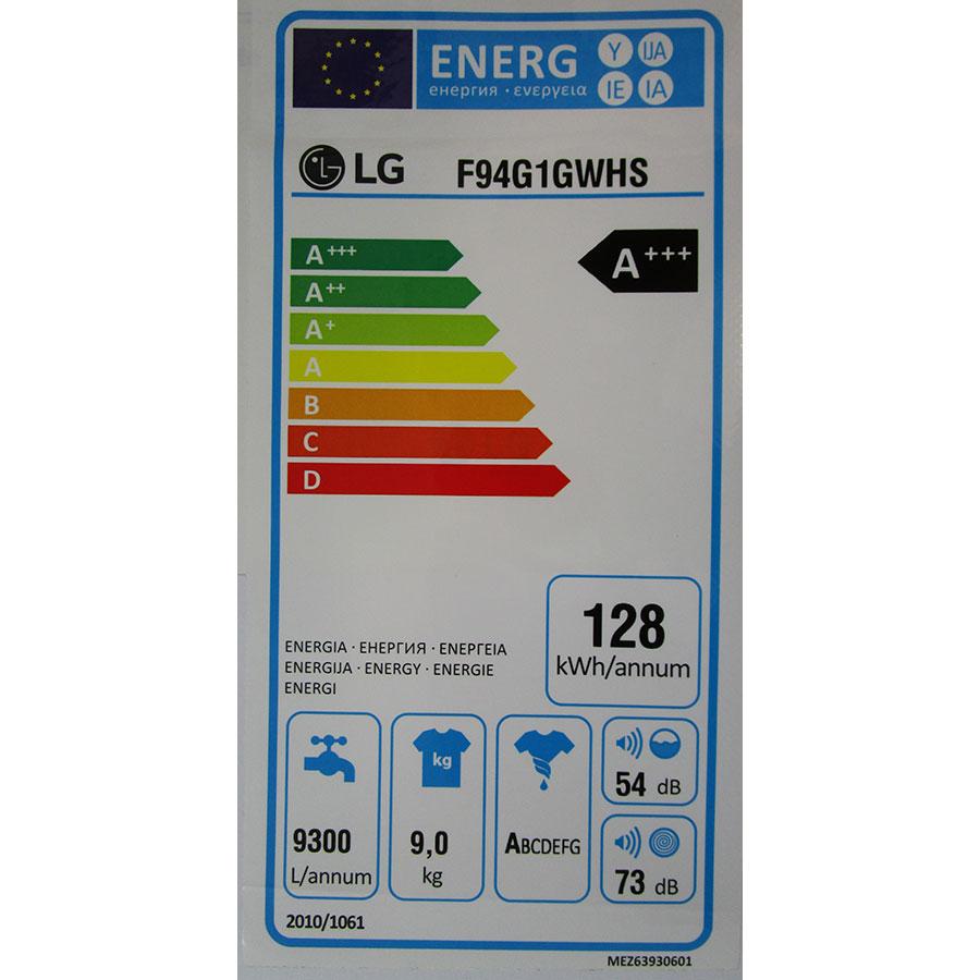 LG F94G1GWHS - Étiquette énergie