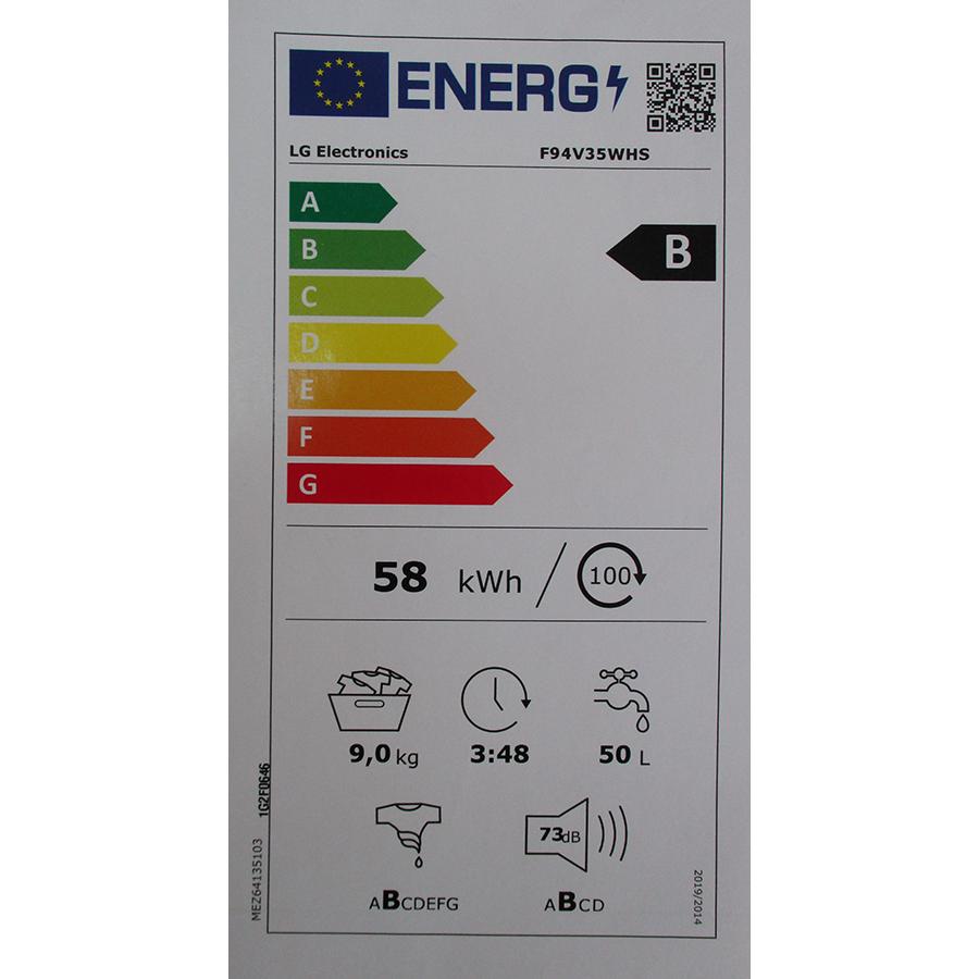 LG F94V35WHS - Nouvelle étiquette énergie