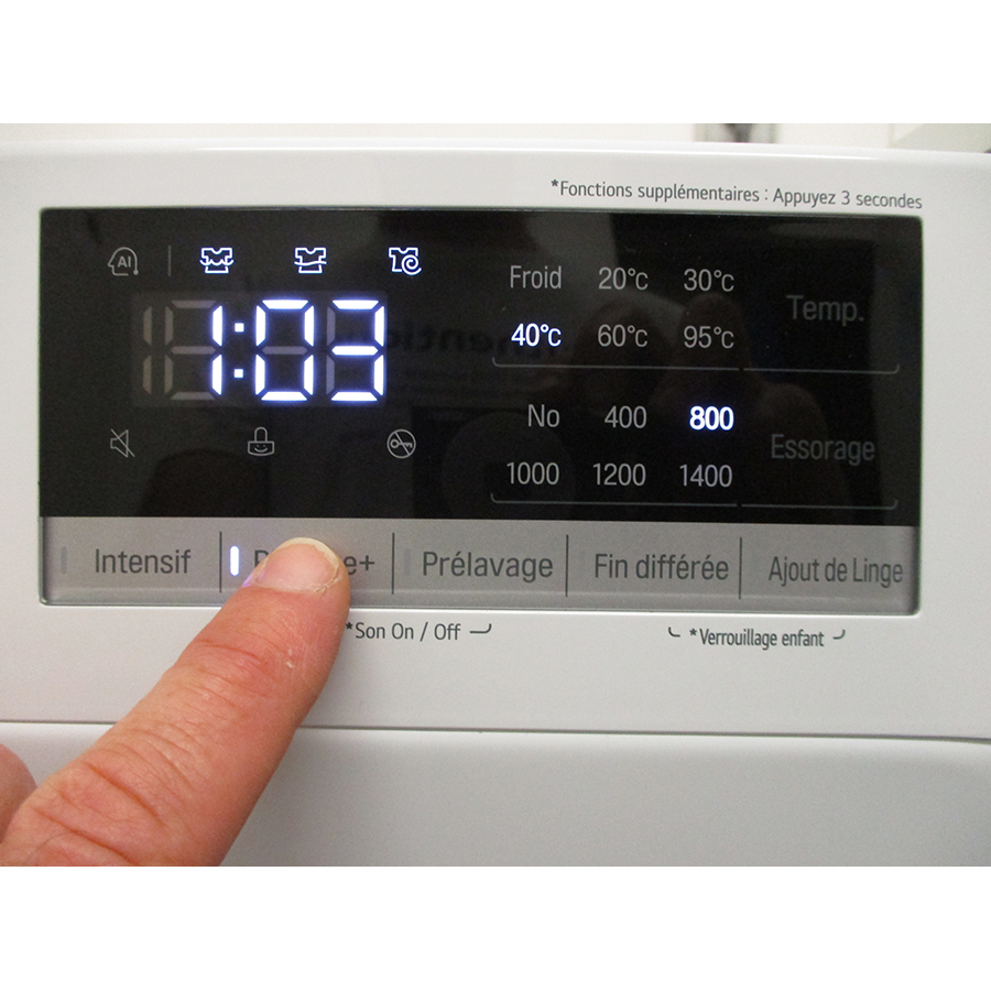 LG F94V35WHS - Afficheur et touches d'options