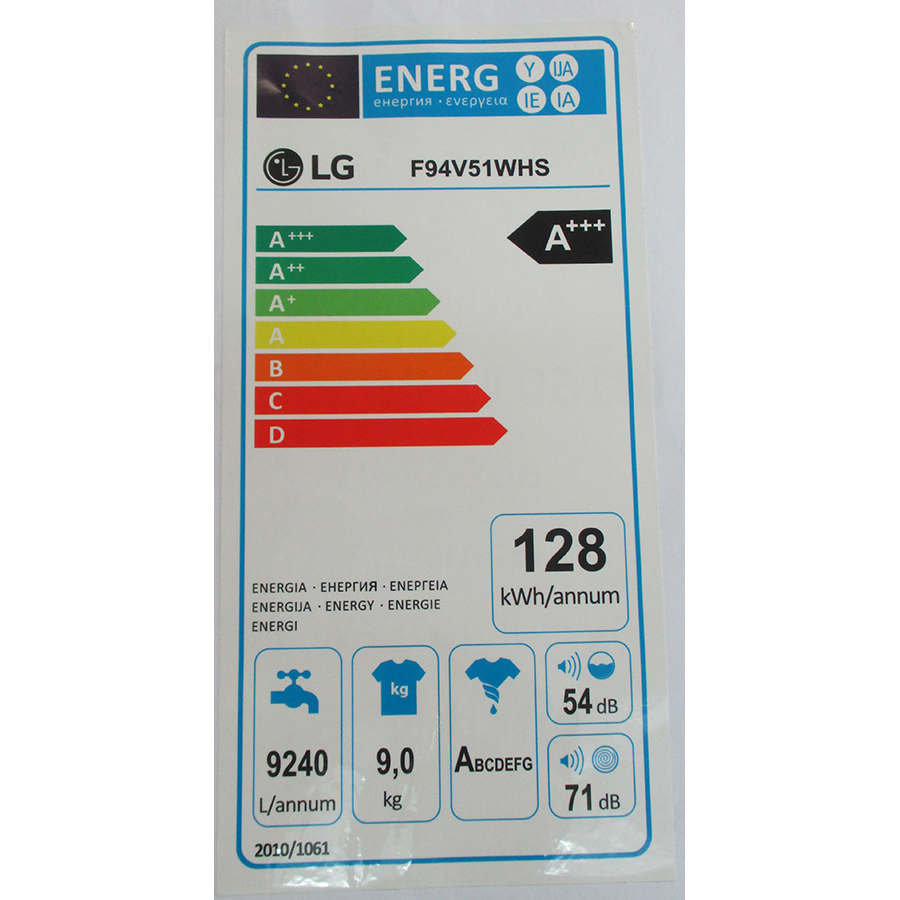 LG F94V51WHS - Étiquette énergie
