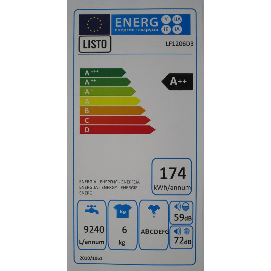 Listo (Boulanger) LF1206D3(*36*) - Étiquette énergie