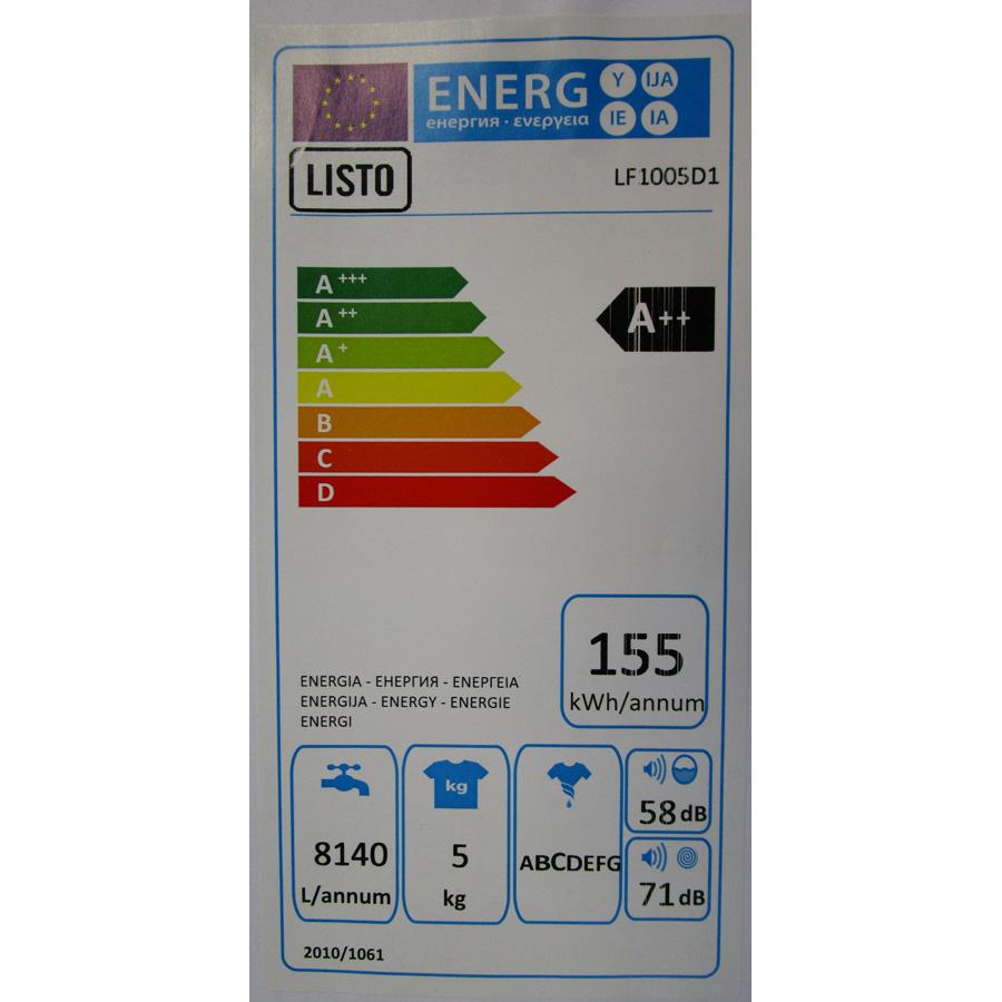 Listo (Boulanger) LF1005D1(*28*) - Étiquette énergie