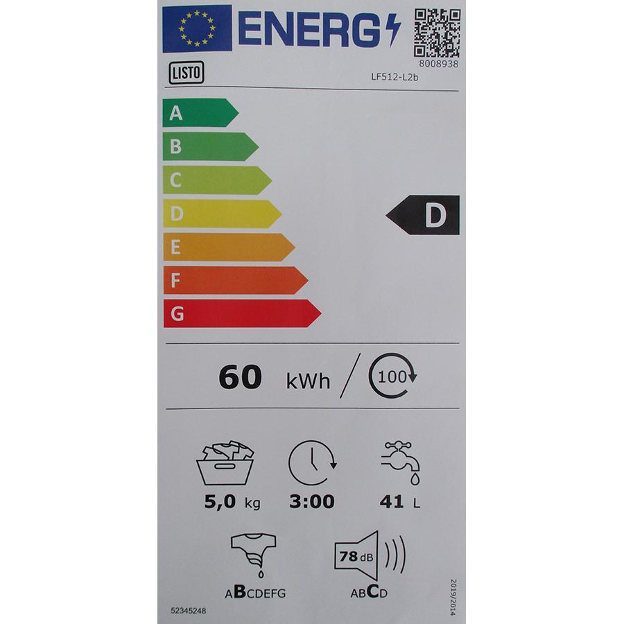 Listo LF512-L2b - Nouvelle étiquette énergie