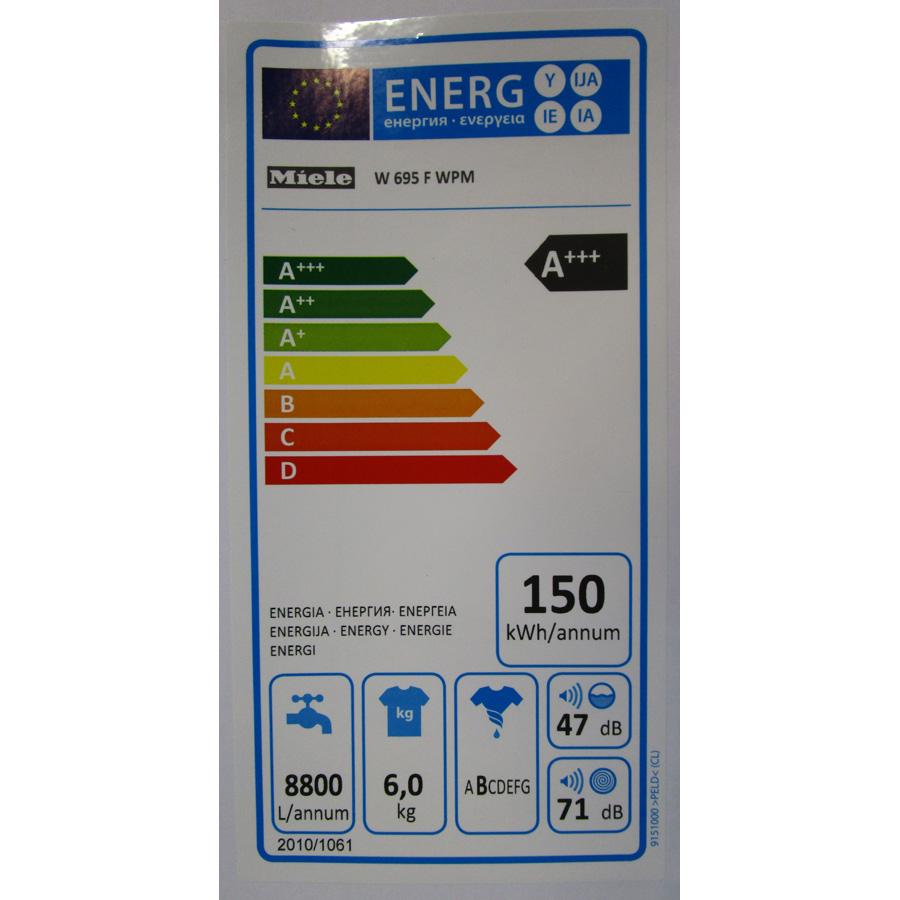 Miele W695WPM - Étiquette énergie