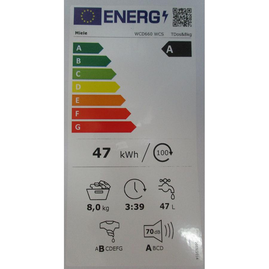 Miele WCD 660 - Nouvelle étiquette énergie