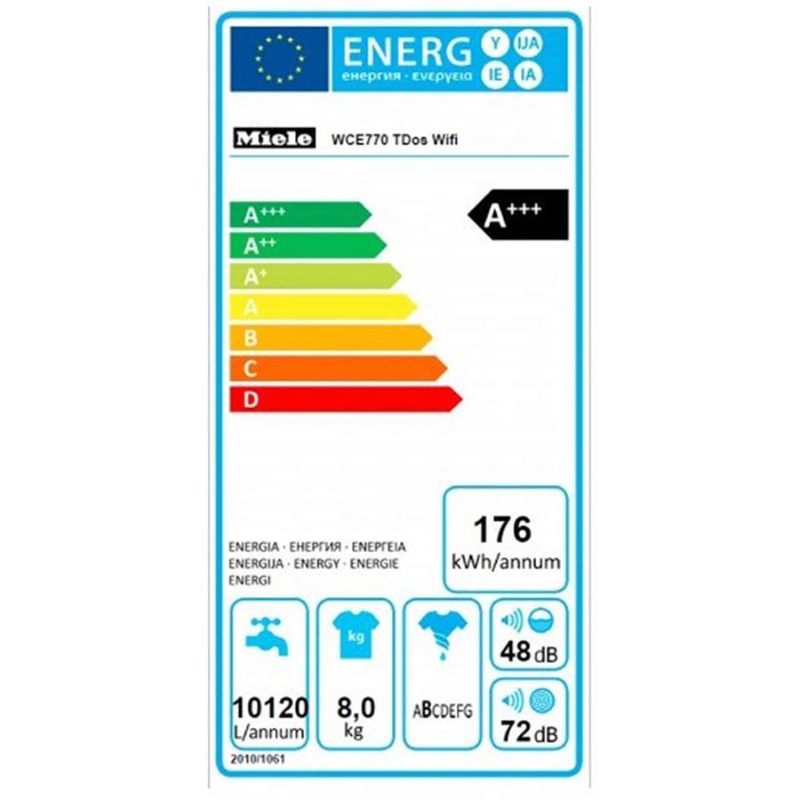 Miele WCE770 - Étiquette énergie