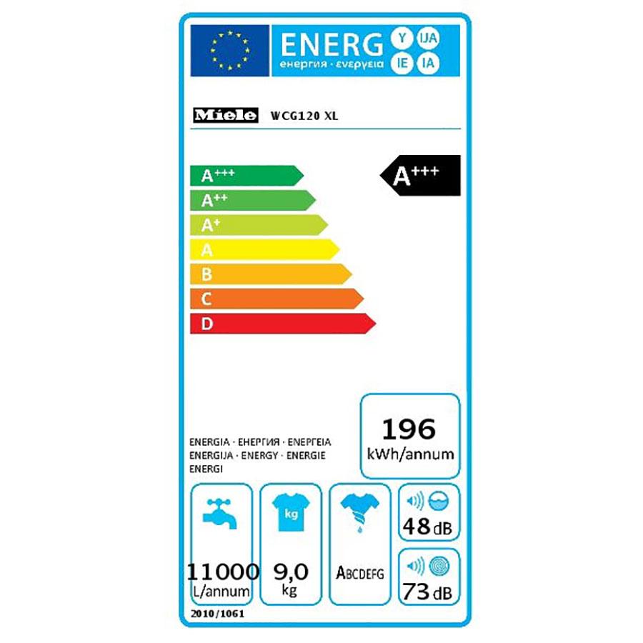 Miele WCG120 - Étiquette énergie
