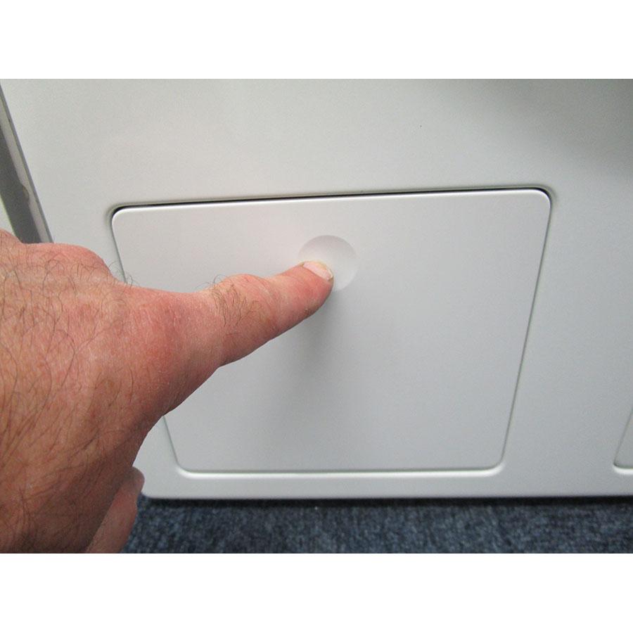 Miele WCI660 TDos XL&Wifi - Ouverture de la trappe du filtre de vidange