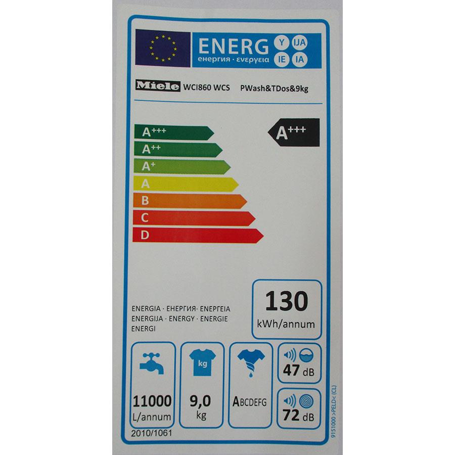 Miele WCI860 - Étiquette énergie
