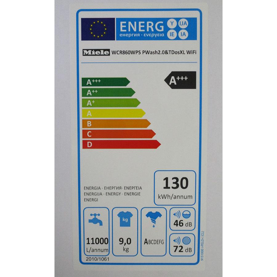Miele WCR860WPS - Étiquette énergie
