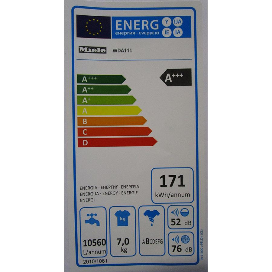 Miele WDA111 - Étiquette énergie