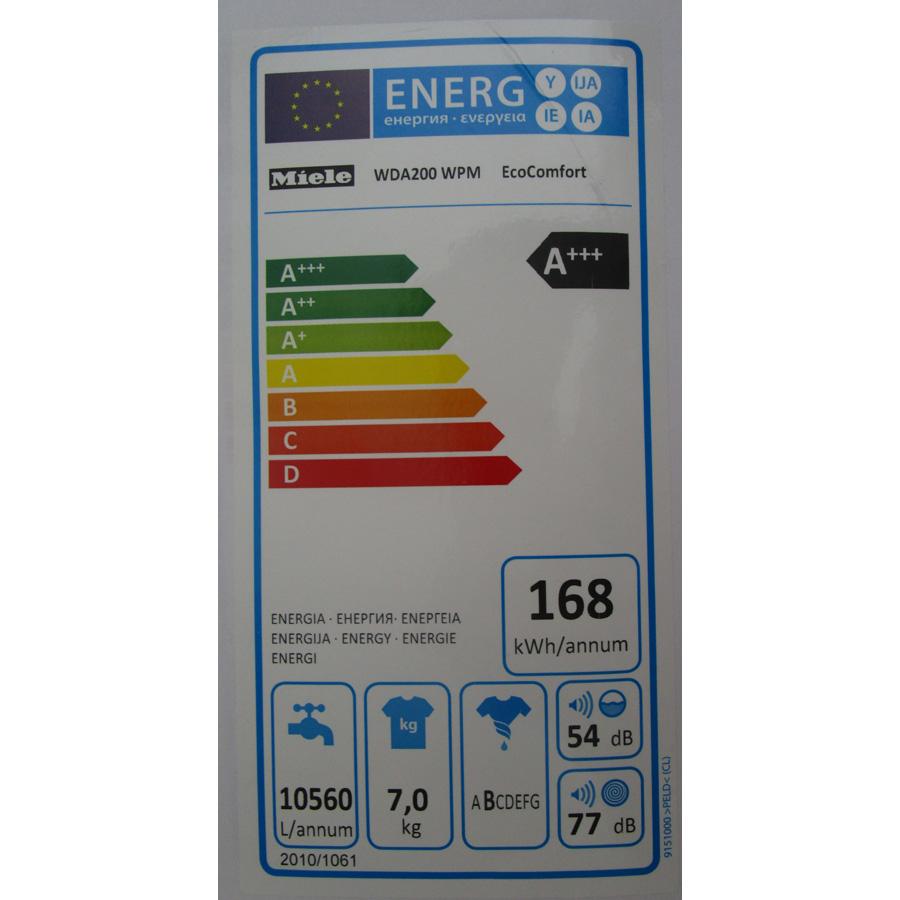 Miele WDA200WPM - Étiquette énergie