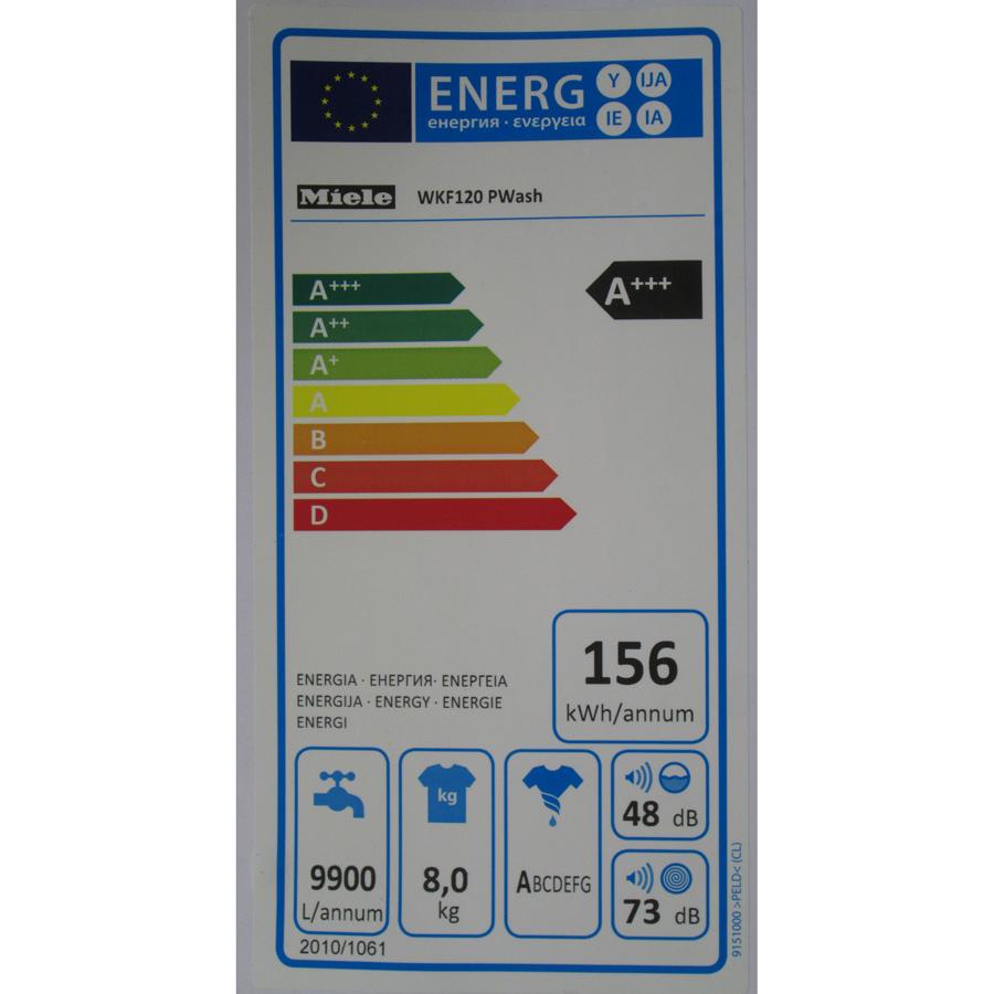 Miele WKF120 W1 ChromeEdition(*3*) - Étiquette énergie