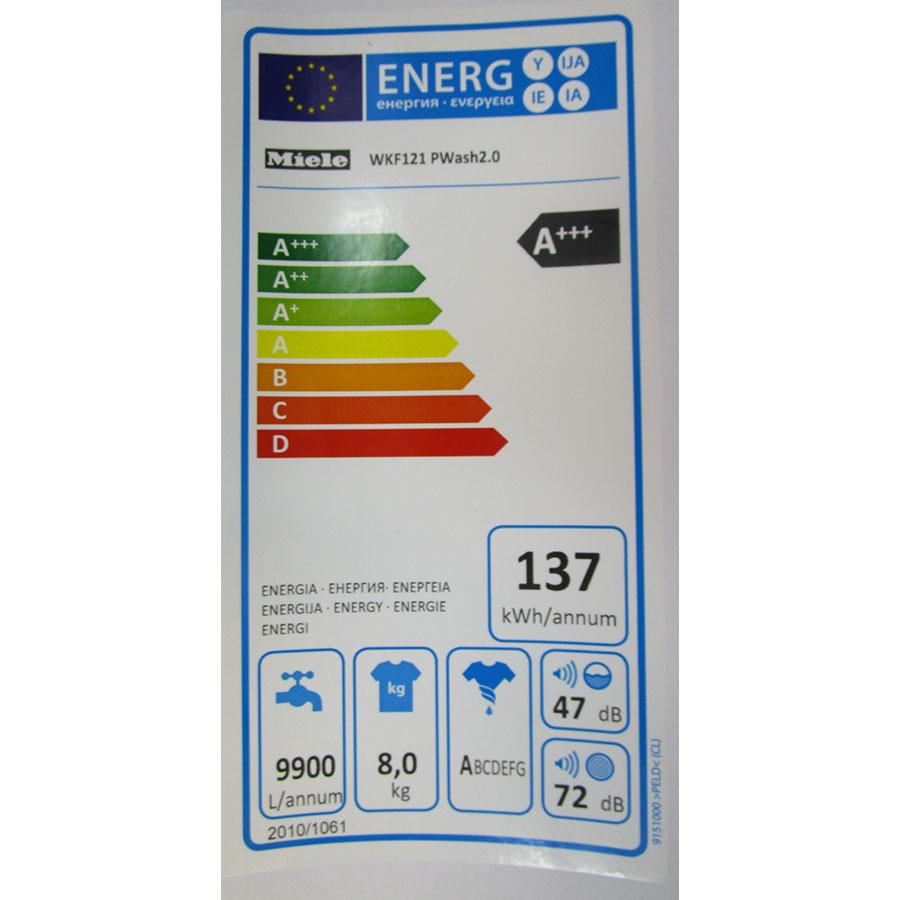 Miele WKF121 - Étiquette énergie