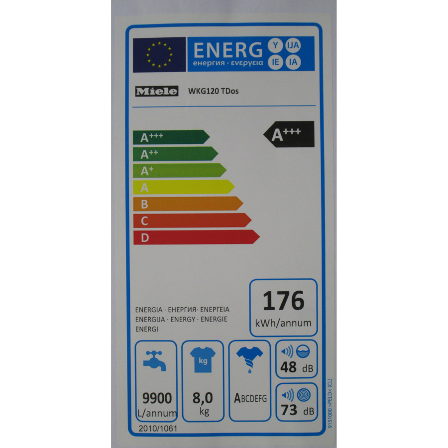 Miele WKG120 W1 ChromeEdition - Étiquette énergie