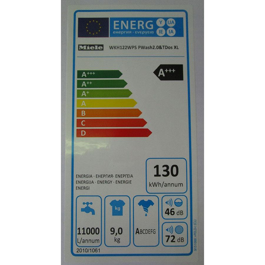 Miele WKH122WPS - Étiquette énergie