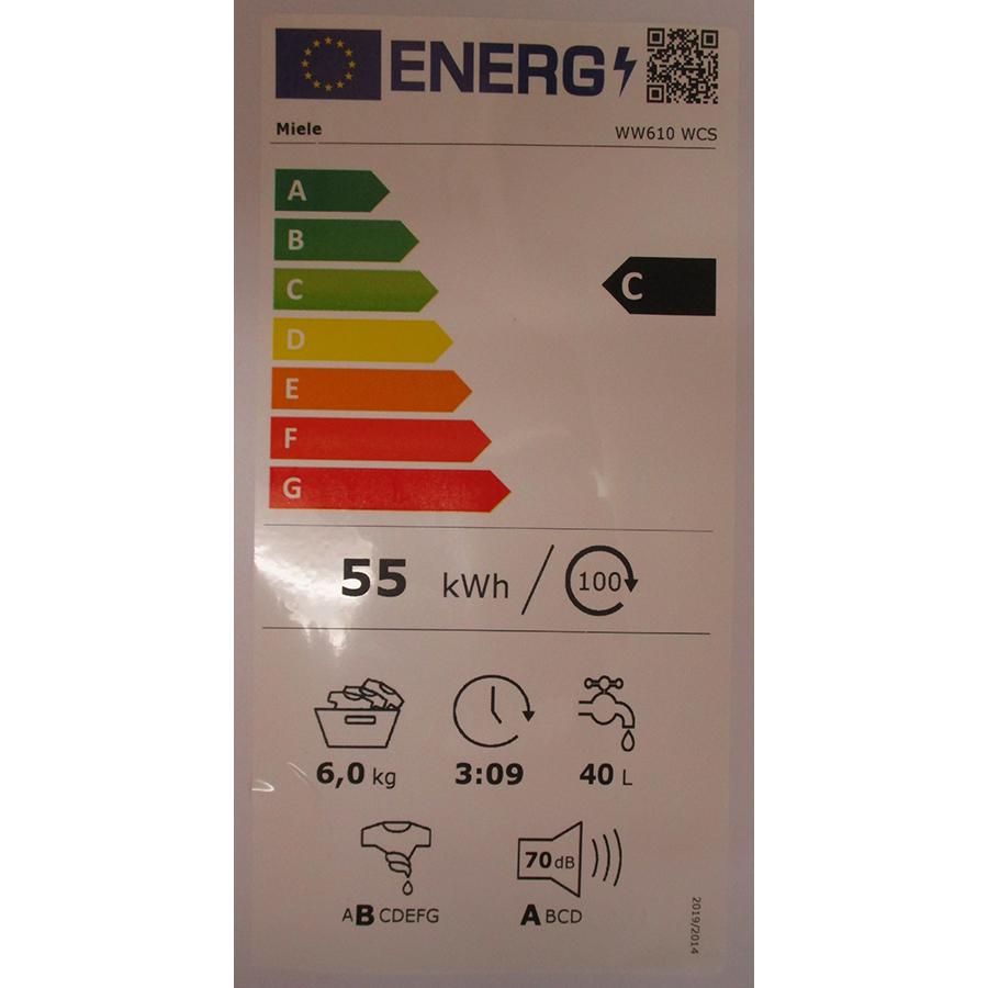 Miele WW 610 WCS - Nouvelle étiquette énergie