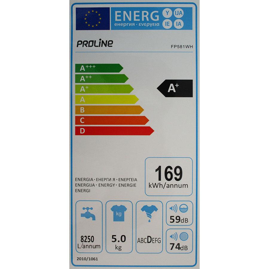 Proline (Darty) FP581WH - Étiquette énergie