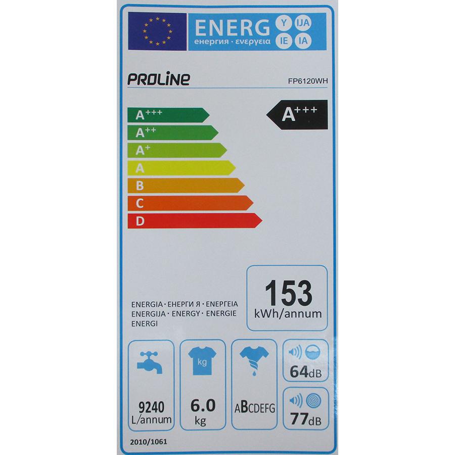 Proline (Darty) FP6120WH - Étiquette énergie