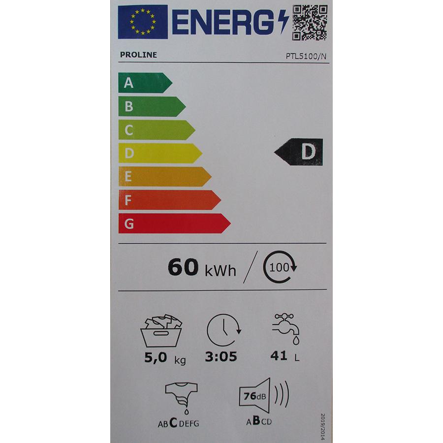 Proline PTL5100/N - Nouvelle étiquette énergie
