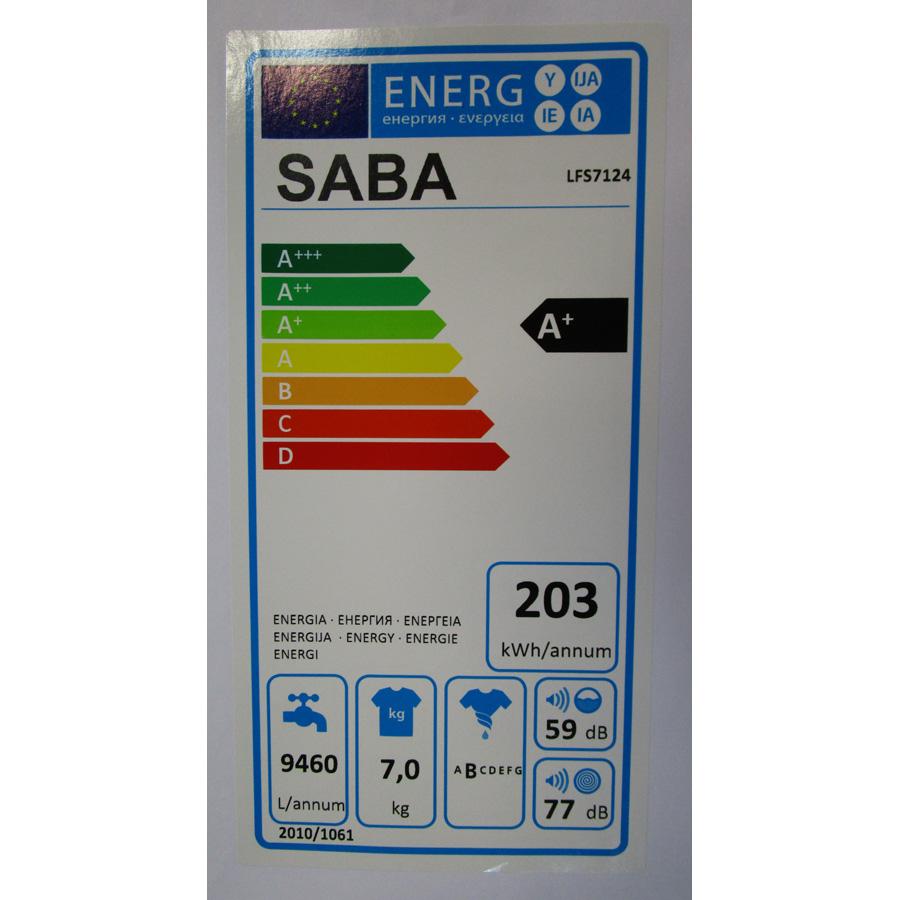 Saba (Conforama) LFS7124(*27*) - Étiquette énergie