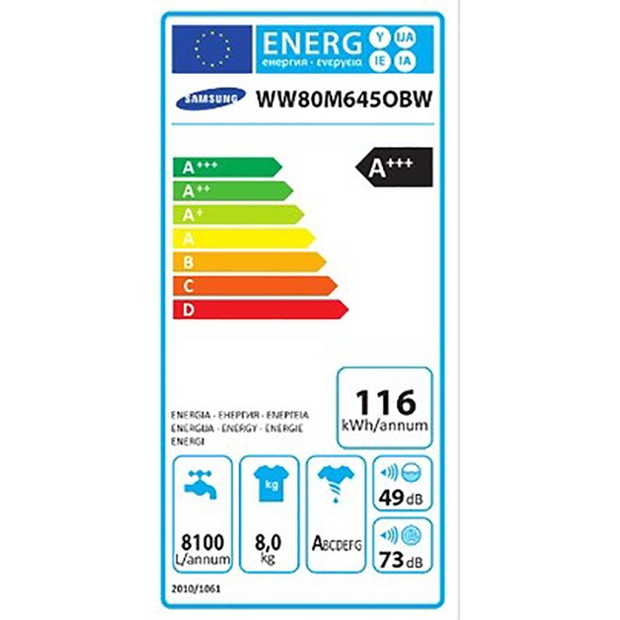 Samsung QuickDrive WW80M645OBW - Étiquette énergie
