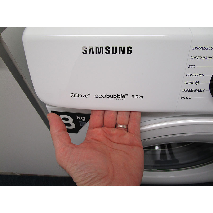 Samsung QuickDrive WW80M645OCW(*10*) - Ouverture du tiroir à détergents